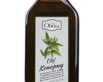 Hemp Seed Oil | Cannabis Oil | Ol'Vita | 100% pure | cold pressed, 250ml.