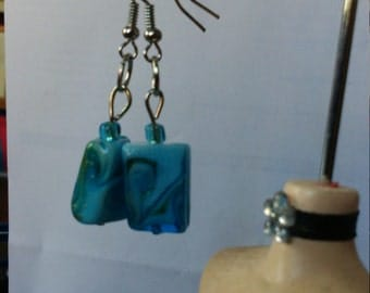 Earrings blue stones
