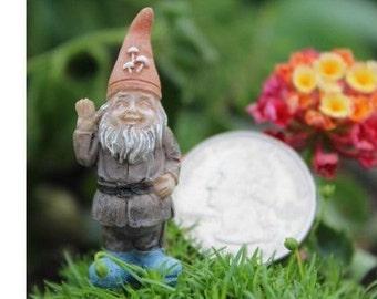 Tiny happy terrarium gnome