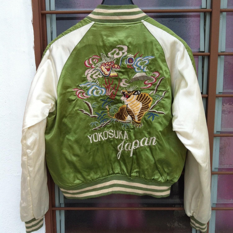 Sukajan embroidered jacket bomber vintage japan tiger dragon