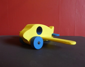 Chunky woodend yellow toy plane