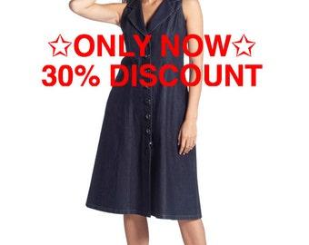 30% Sale, Denim Dress