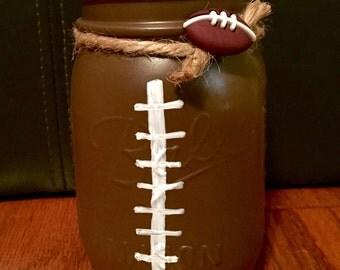 Pint Sized Football Mason Jar