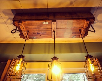 Industrial Light Fixture, Rustic Lighting, Edison Bulbs, Dining Room Lighting, Bar Light, Bar Lighting, Hanging Light Fixture