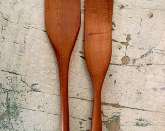 Spatula/spurtle set hand crafted from cherry