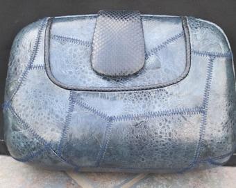 Vintage lizard skin handbag