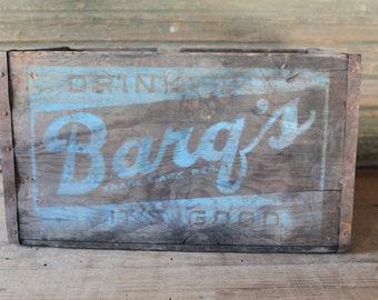 Barq's root beer crate