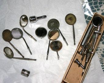 Vintage Dental Odd and Ends//Dental Pieces//Dental Mirrors//Vintage Dental Pieces
