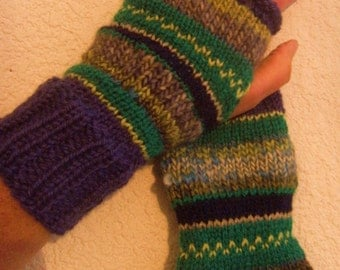 mittens - made hand-wool nature woman