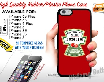 Christian iPhone Case • Catch Up with Jesus • 2 Corinthians 9:8 • Blessed from my head TO • MA • TOES • Bible Verse • High Quality Rubber