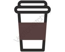 Coffee To Go Cup Template SVG EPS Silhouette DIY Cricut Vector Instant Download Latte, Bean, Shot, Espresso, Tea, Hot, Coffee Bean