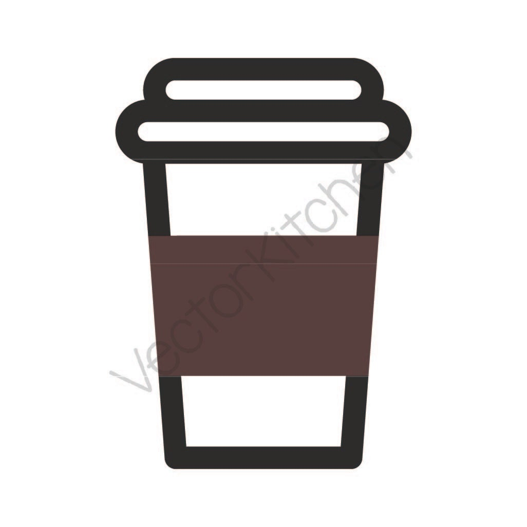 Coffee To Go Cup Template SVG EPS Silhouette DIY Cricut Vector