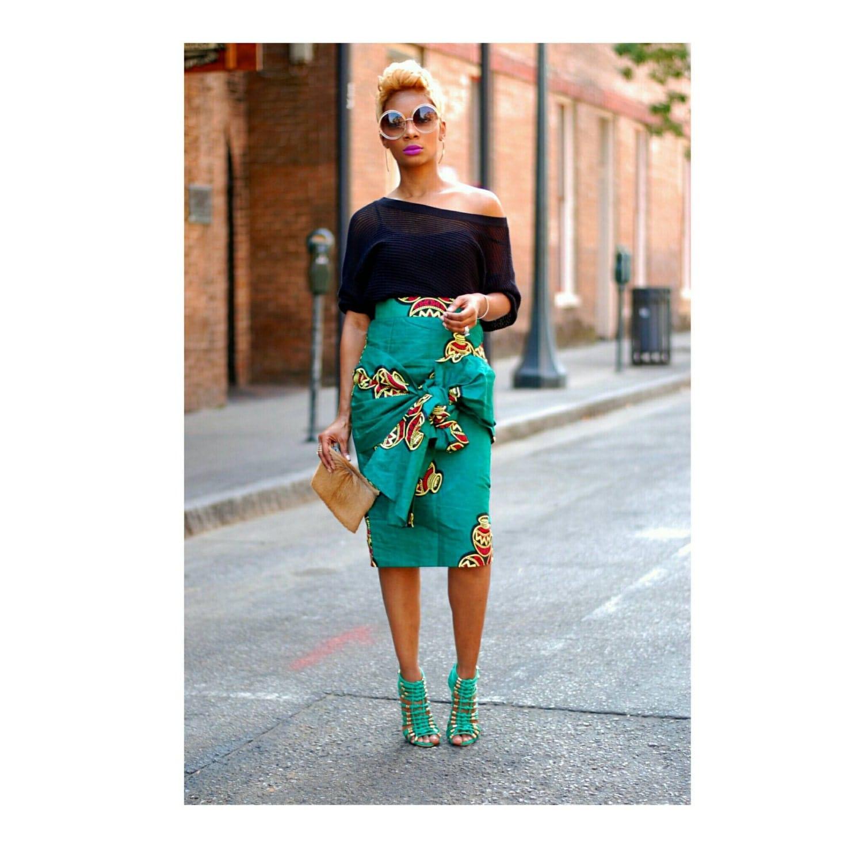 African skirt African print skirt African wrap skirts by TrueFond