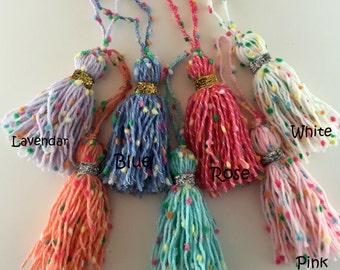 Confetti Planner Tassel / Handbag Tassel / Notebook Tassel / Keychain / Yarn Tassel