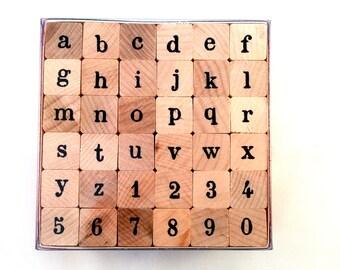Label alphabet lowercase