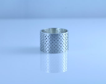 sterling silver band aid ring