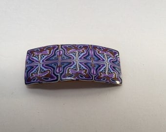 purple patterned hair clip