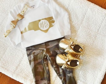 NC MONOGRAM Long Sleeve Bodysuit