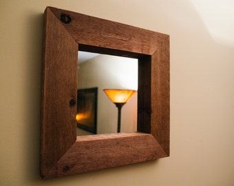 wood framed mirror rustic, large wall mirror, floor mirror, vanity mirror, full length mirror
