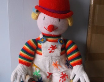 Handmade Knitted Large Clowns