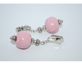 Ear pink ceramic clips