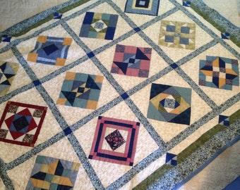 Handstitched quilt