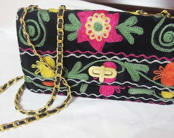 Suzani Purse with Chain