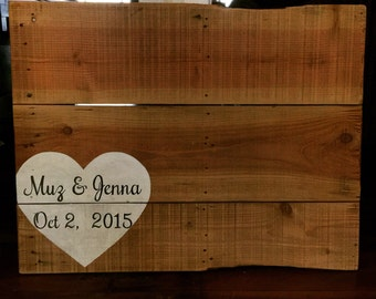 Wedding Guest Signing Board - Shipping NOT Included