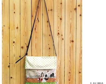 bag stamped with lapel/print flap bag