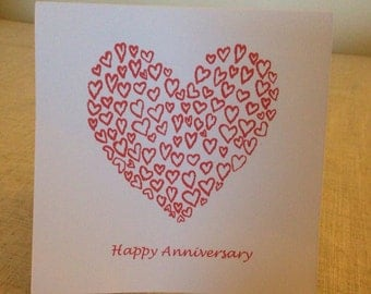 Anniversary Mini Love Heart Card