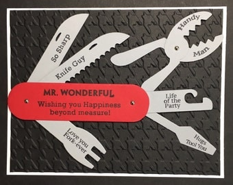 Utility knife card