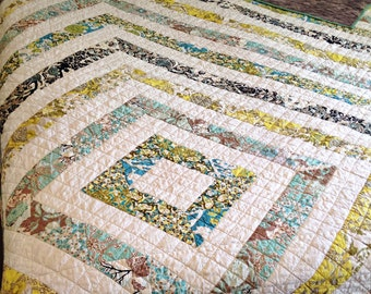 Custom Modern Diamonds Quilt  (Free Shipping)