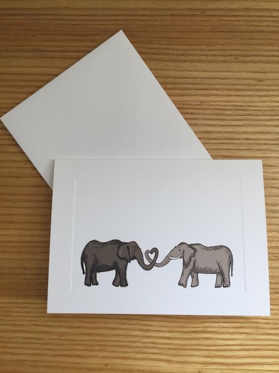 Elephant heart trunks greeting card for Elephant heart trunk