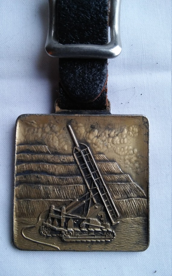 Vintage Roscoe Rock Drill Corp. Advertising Watch FOB of Waterbury, Vermont