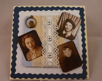 Handmade Vintage Photograph Greeting Card