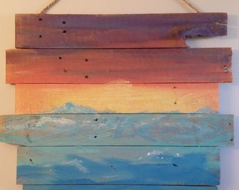 Re-purposed Sunset Beach Art