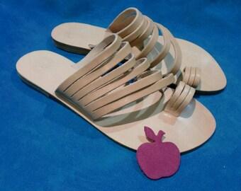 "Greek leather strappy sandals ""Niki"""