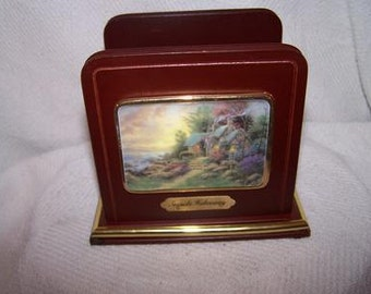 "Thomas Kincade Napkin holder ""Seaside Hideaway"""