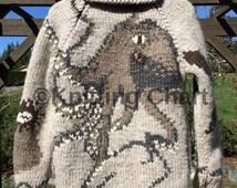 Knitting Chart for Salish Garden Octopus Sweater