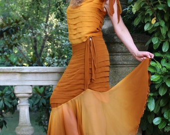 This evening dress by Juravliova