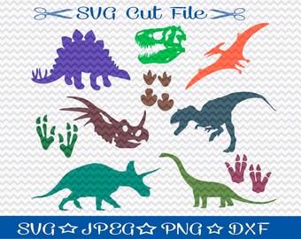 Dinosaur SVG File / SVG Cut File for Silhouette / Jurassic SVG / T-Rex svg