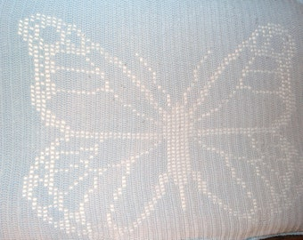 Crocheted Butterfly Afghan