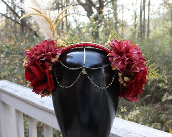 Red and Gold Flower Headpiece