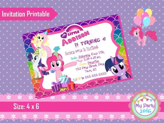 My Little Pony Birthday Party Invitation - Printable
