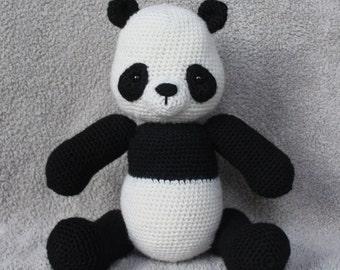 Crocheted Panda Stuffed Animal