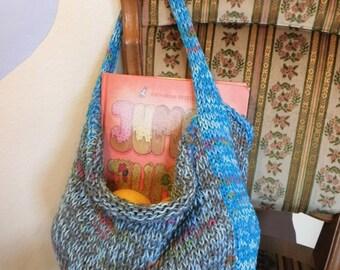 Knitted bag, market bag / knitting bag / shopping bag