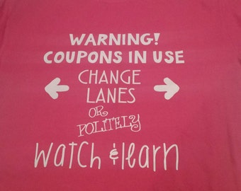 Warning! Coupon Shirt Short Sleeve