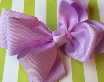 Large Lavender Grosgrain Layered Boutique Bow