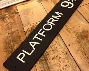 Harry Potter Platform 9 3/4 Wooden Sign
