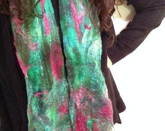 Woodland cobweb scarf